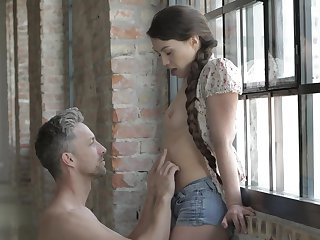 Brunette Tiffany Doll making love