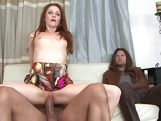 Redhead Chloe lets Sledge Hammer shove his throbbing dick in her mouth