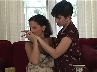 Brunette Mia Knight and Melissa Monet show their love for lesbian sex