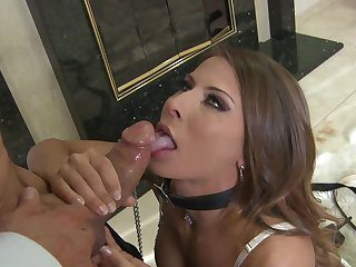 Peter North can't wait any more to insert his cock in breathtakingly hot Madison Ivy's mouth