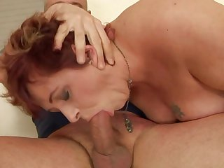 Mature can't live a day without taking erect meat pole in her mouth