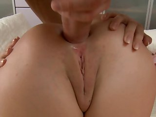 Teen enjoys throbbing worm deep inside her ass way