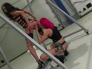 Angel Long can't get enough and rubs Samantha Bentley's again and again