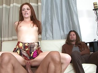 Sledge Hammer makes his sturdy meat pole disappear in devilishly sexy Chloe's mouth