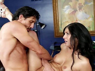 Brunette Madelyn Monroe wants bang and bang and bang