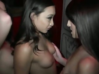 Brunette oriental Jenna Ross puts her soft lips on Brannon Rhodes's cock, dick, pole, meat pole, meatrock hard cock