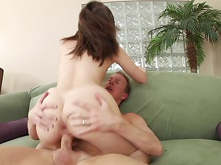 Brunette Nickey Huntsman is ready to suck Mark Wood's dick fuck 24/7 before she gets fucked in her ass way