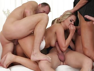 Steve Q needs anal sex really badly in sex action with George Uhl after she gives head