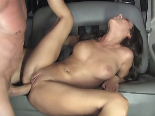 Peter North fucks Brunette Breanne Benson in her mouth as hard as possible in oral action