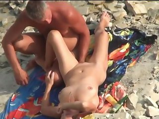 Sex on the beach. Passionate Mature lovers