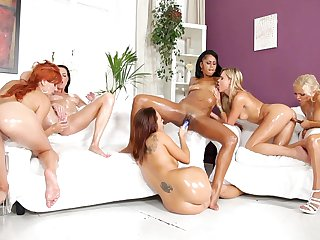 Redhead Isabella Chrystin satisfies her lesbian desires with Baby Blonde's fingers in her between her pussy lips