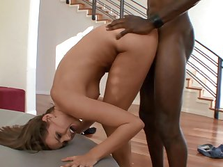 Brunette Tori Black gets ploughed by hot guy the way she loves it in interracial porn action